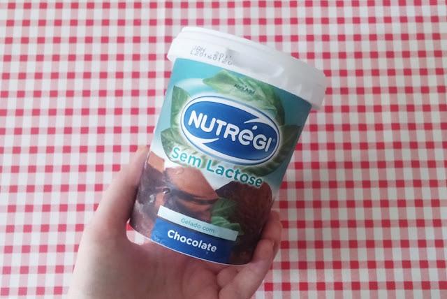 Gelado com chocolate sem sactose, Nutrégi.
