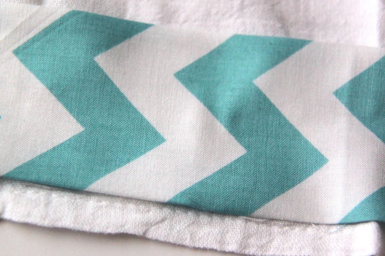 Chevron Inspired Tea Towels-TUTORIAL - Smashed Peas & Carrots