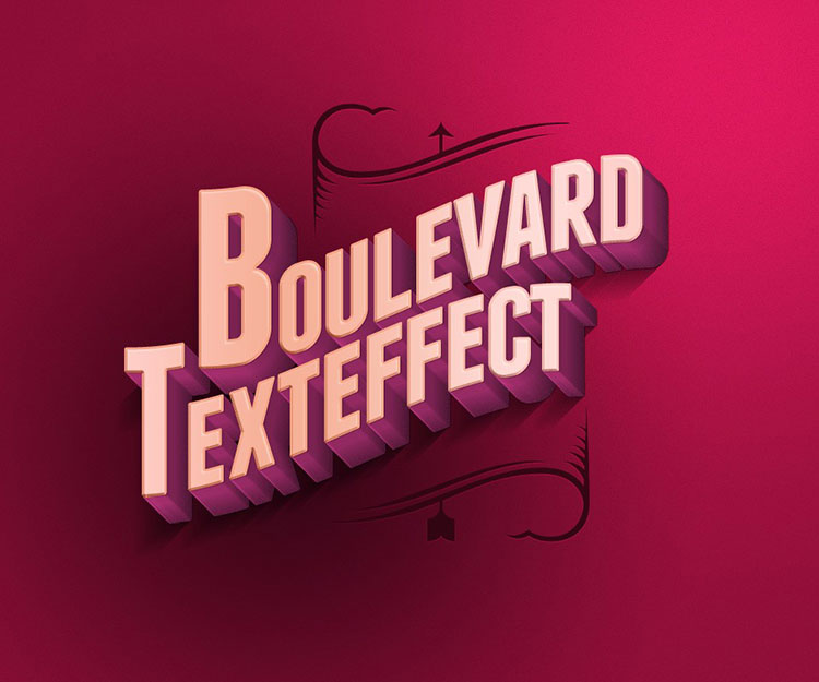 Boulevard Retro Text Effect
