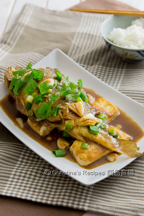 豆腐蒜子炆黃花魚 Braised Yellow Croaker Fish with Garlic and Tofu02