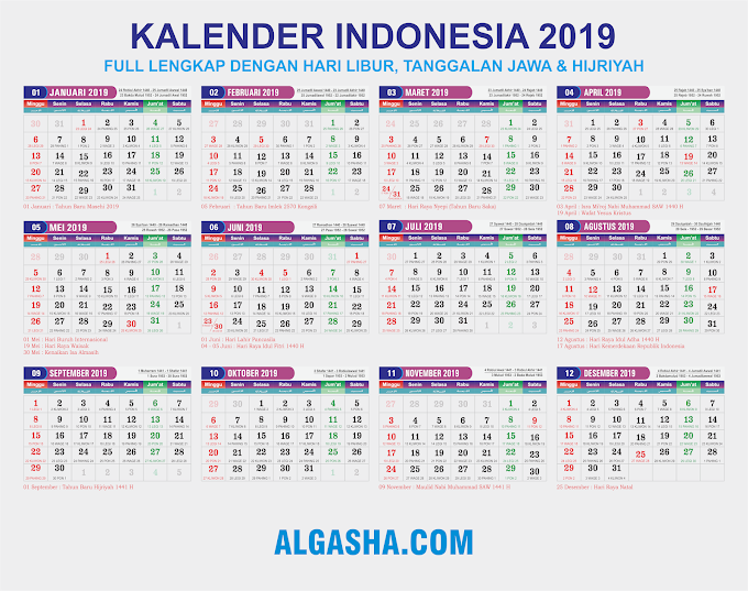 Download Kalender 2019 CorelDraw