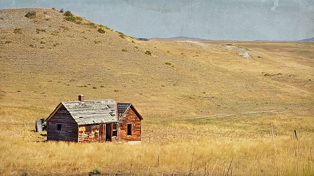 A Montana farmhouse long abandoned...