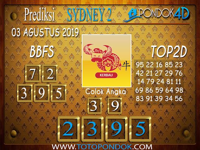 Prediksi Togel SYDNEY 2 PONDOK4D 03 AGUSTUS 2019