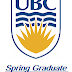 Spring Graduate Awards Competition at UBC in Canada 2018-19