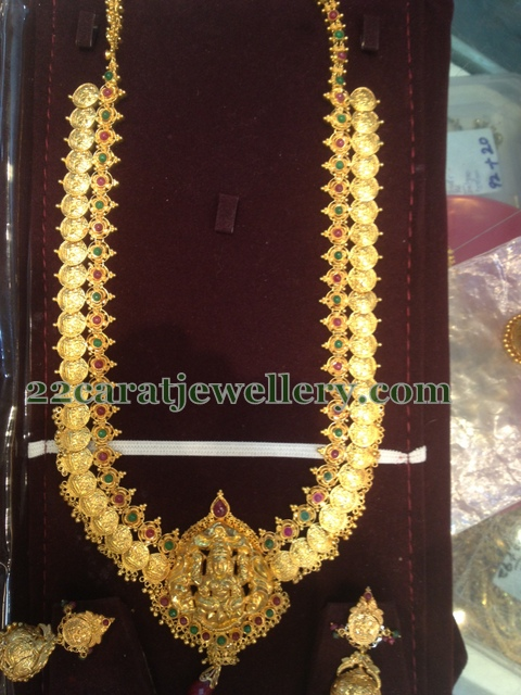 One More Kasumalai And Earrings Jewellery Designs