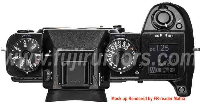 Возможный внешний вид Fujifilm X-H1, вид сверху