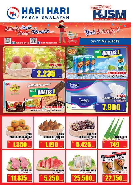 Katalog Promo HARI-HARI Swalayan Akhir Pekan Periode 08 - 11 Maret 2018
