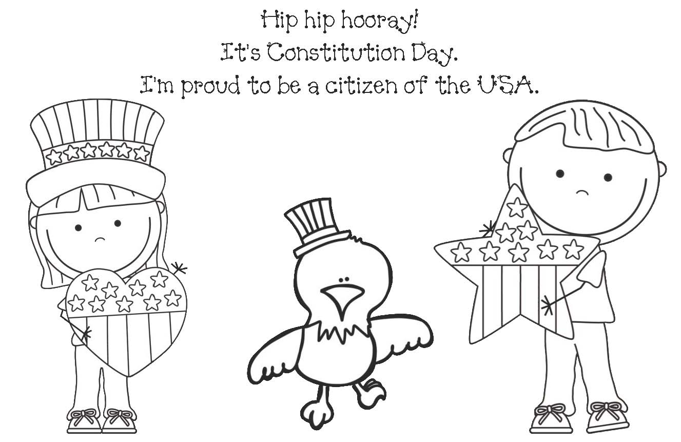 constitution coloring pages for kindergarten - photo#3