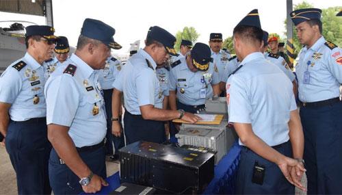 Kunjungan Kerja Kasau di Lanud Supadio  Sumber Kepala Penerangan Pangkalan TNI AU Supadio