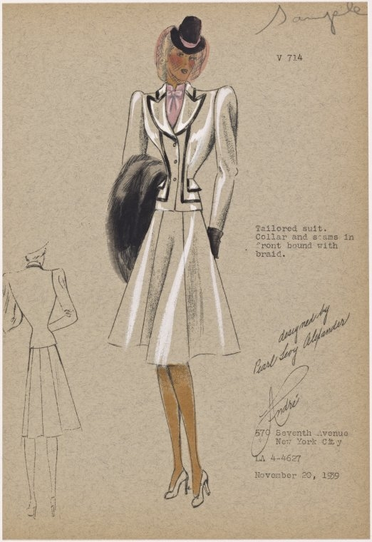 12-Tailored-Suit-New-York-Public-Library-André-Studios-Fashion-Vintage-Illustrations-and-Drawings-from-the-1930s-www-designstack-co