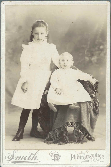 Cabinet Photograph of Emma C. Mayo and Younger Brother Carroll; presumably of Naples, Maine
