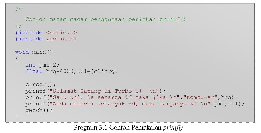 Materi Algoritma Perintah Output Dan Input