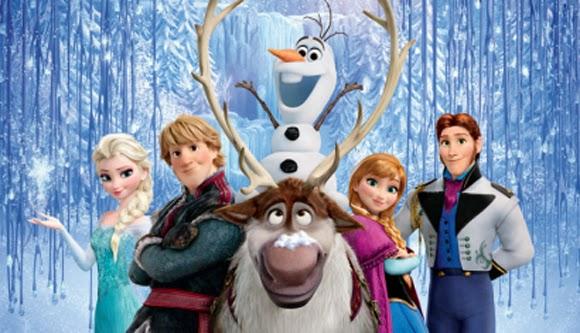 Foto de família de los protagonistas de Frozen