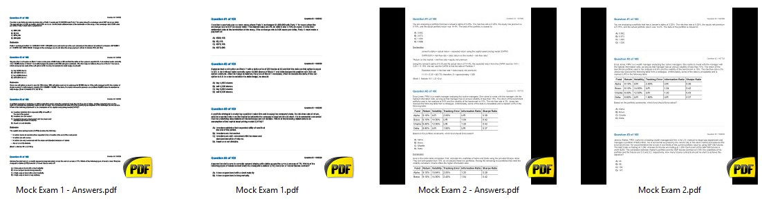 FRM 2019 Mock Exam ~ Finance Study Notes