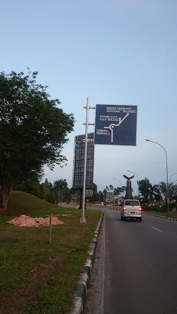Road Sign Direction to Airport