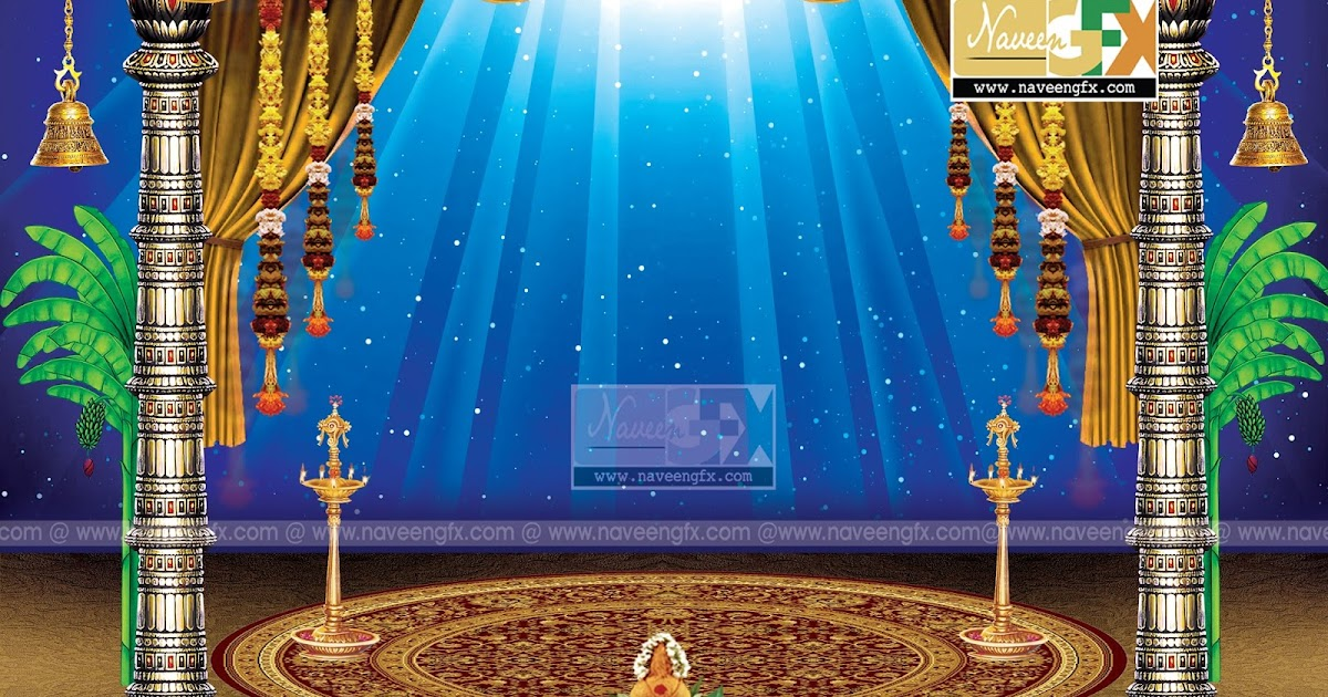 creative stage background design for ganesh chaturthi