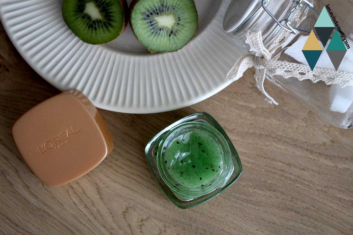exfoliant sucre et pépin de kiwi réduire les points noirs test