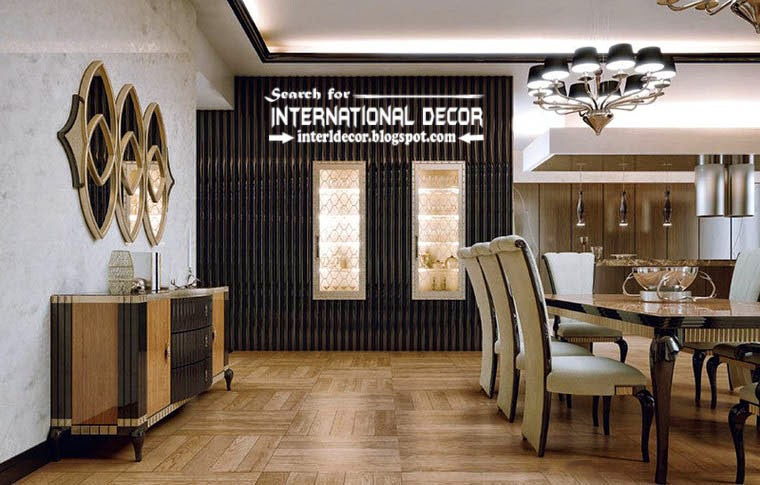 Stylish Art Deco dining-kitchen interior design style and furniture, apartments london