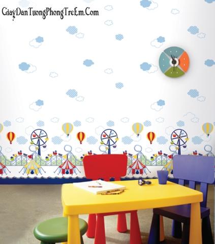 giấy dán tường cho phòng bé yêu
