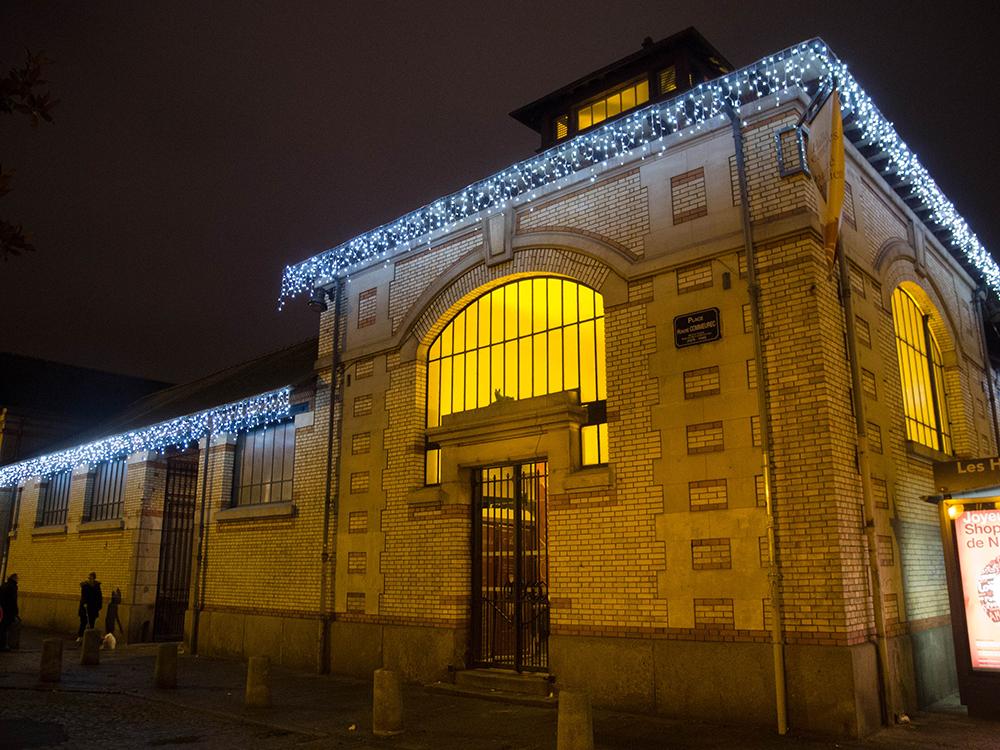 blog Rennes la paillette décorations Noel guirlandes lumineuses halles centrales