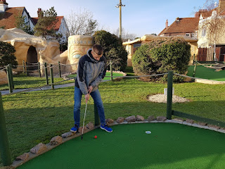 Karl Moles at Fantasia Adventure Golf in Felixstowe