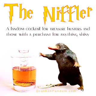 Unleash your inner niffler and hunt for gold with this Harry Potter inspired cocktail
