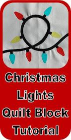 Christmas Lights Quilt Block Tutorial