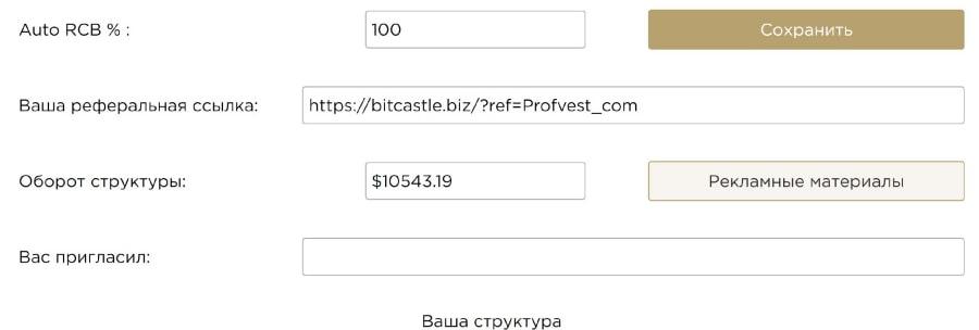 Структура в Bitcastle