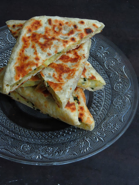 Turkish Potato Gozleme, Potato & Cheese Gozleme