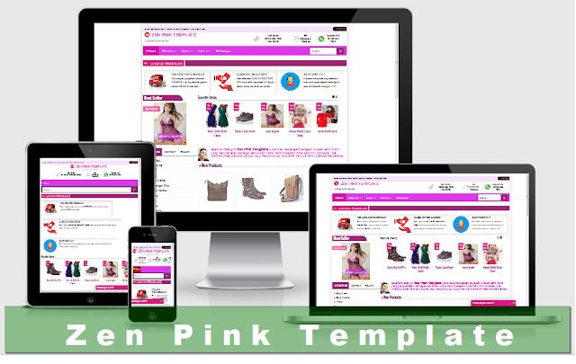 Template Zen Pink untuk Toko Fashion Blogspot