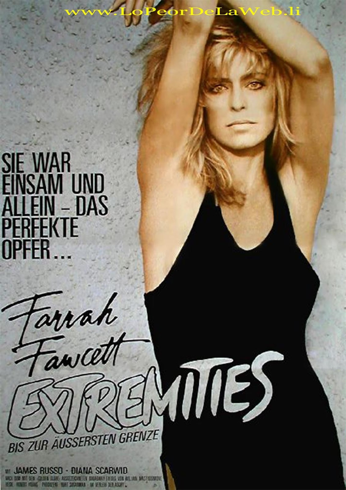 Acorralada 1986  Extremities  Farrah Fawcett  LoPeorDeLaWeb