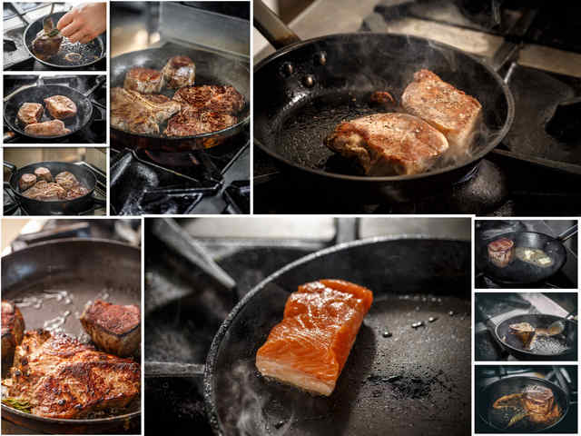10 صور لشريحة لحم في مقلاة القلي بجودة عالية