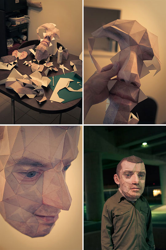 papercraft self portrait