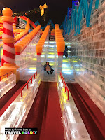 Kids & adults love the 5 2-story ice slides at ICE at the Gaylord Texan Resort, Grapevine, Texas. Travel Boldly