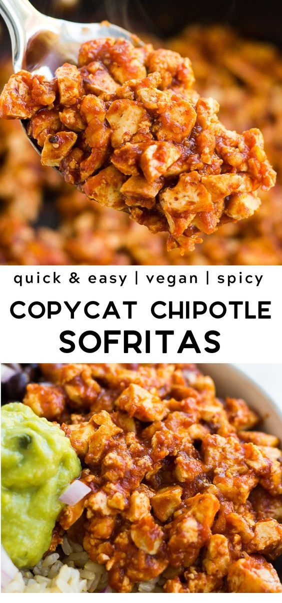 Easy Chipotle Sofritas Recipe