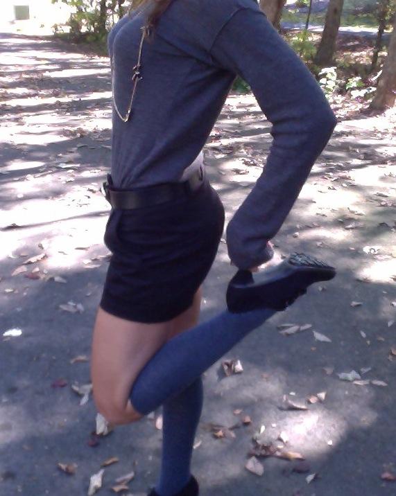 Wanderlust Fall Trend Knee High Socks And Shorts