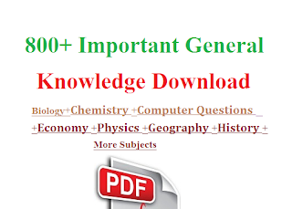 800 +General Knowledge Pdf