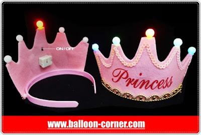 Mahkota Princess + Lampu Untuk Pesta Ulang Tahun Anak