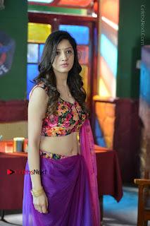 Actress Richa Panai Stills in Half Saree at Rakshaka Bhatudu Sets  0006.JPG