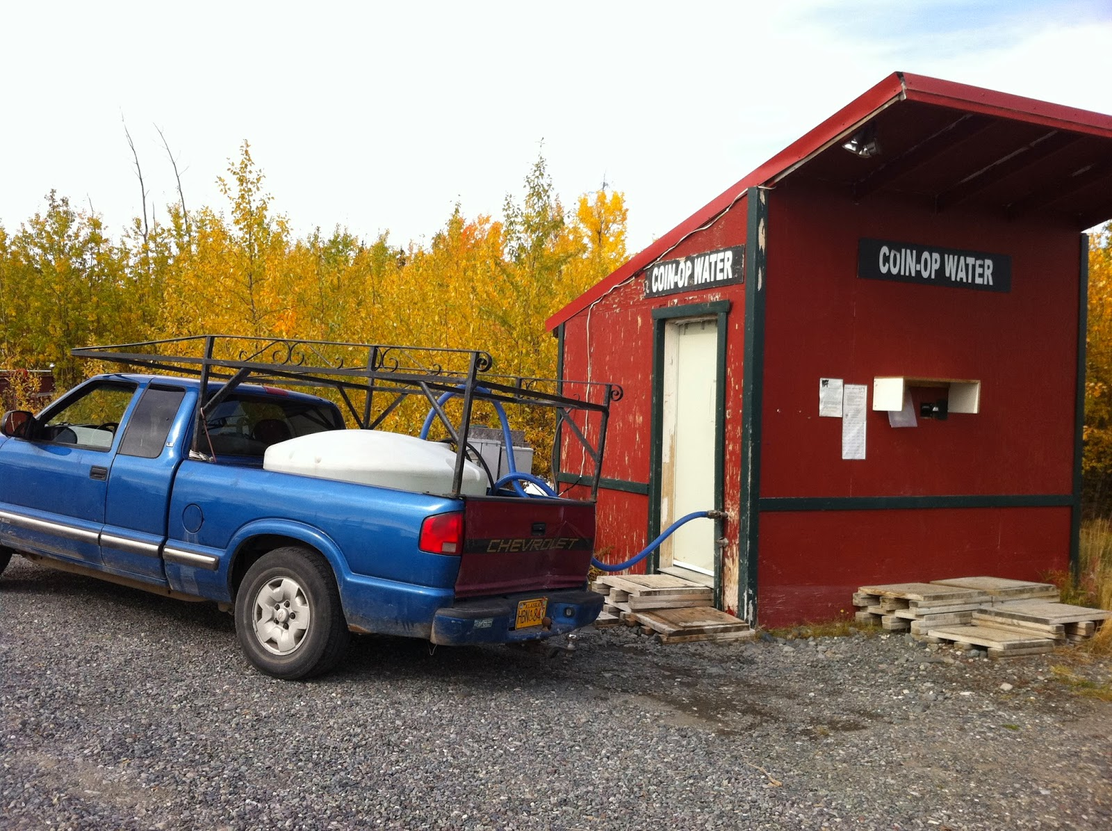Pump house and water storage unit in rural Alaska