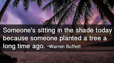 quotes life someone's sitting in the shade today because someone planted a tree a long time ago.