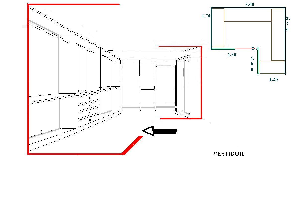 Interiorismo y Decoracion Lola Torga Medidas para un vestidor