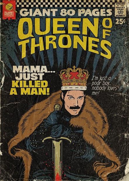 Queen Songs wurden von Butcher Billy in Retro Comic Book Cover verwandelt | Popkultur wird Kunst