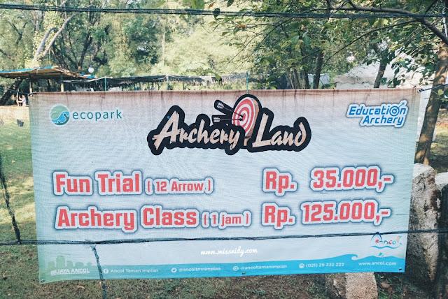 harga archery land eco park ancol
