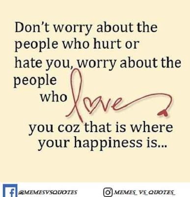 Don't worry about the people