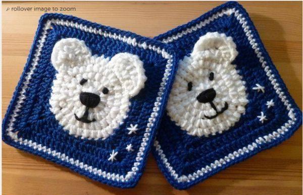 Patrón #1779: Granny de Osito a Crochet