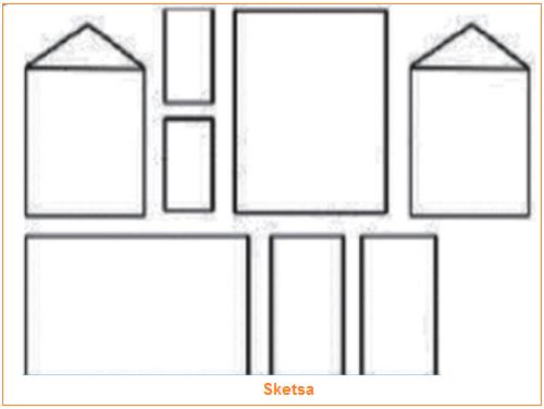 Gambar desain rumah yang akan dibuat terlebih dahulu bisa dengan sketsa atau melalui komputer