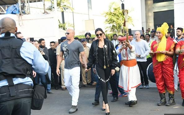 Deepika with her co-star Vin diesel