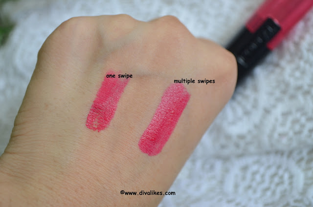 L'Oreal Paris Infallible Le Rouge Lipstick Forever Fuchsia 138 Swatch