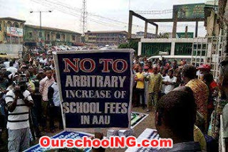 AAU Ekpoma Students Protest School Fees Hike